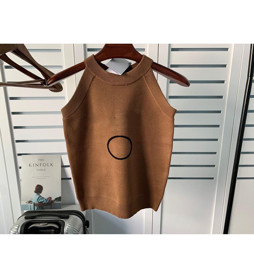 Bahar ve Yaz Rahat Fit Ceket T-Shirt Üst Katı Renk Desen Kısa Kollu Örme Kadın Yelek Top10