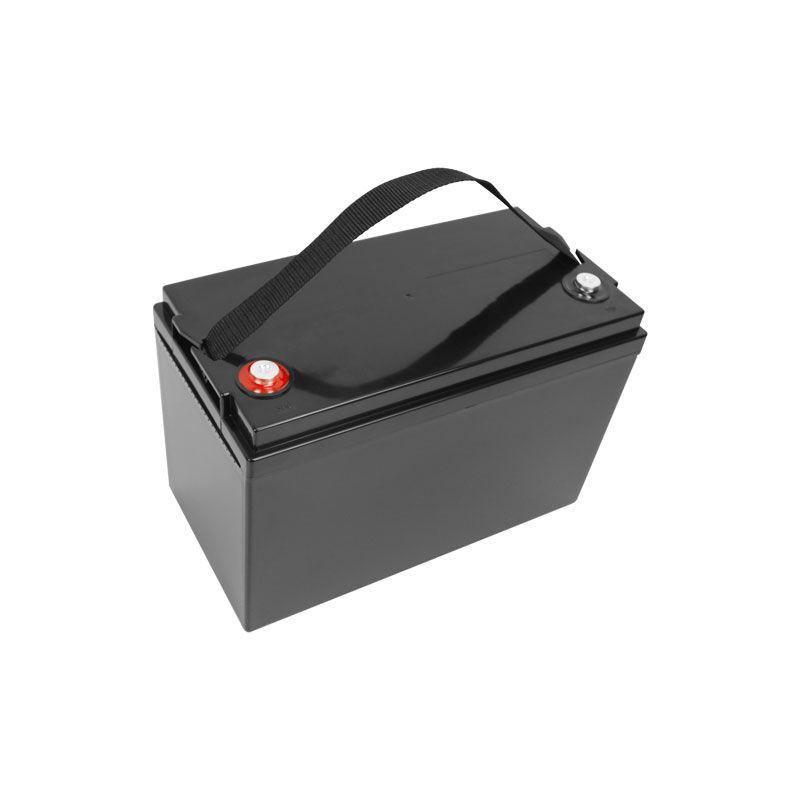 12V 100AH Lifepo4 Batterie wasserdicht mit BMS für Golf Carts Campers Stromversorgung EV Solarspeicher Wohnmobile + 10A Ladegerät