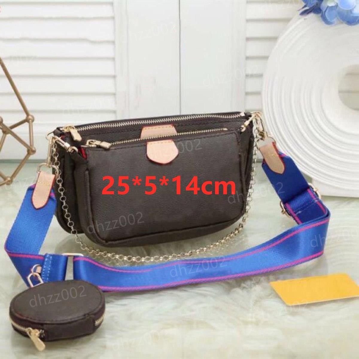 Louis Vuitton Novas mulheres mais como bolsas elegantes Multi-bolso Acessórios Purse L Flor Mini Bolsos 3 Bolsas Cross Bodes Bolsas De Ombro Wrgferge