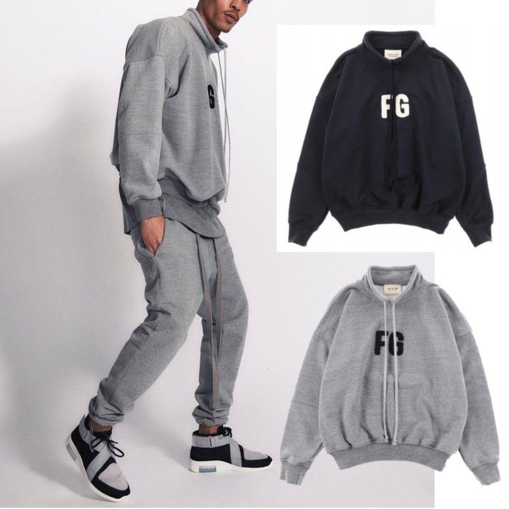Muscolo Brother Fog Joint Joint Brand Pullover Sport Maglione Moda Abbigliamento da uomo Abbigliamento Autunno e inverno Collo in piedi allentato