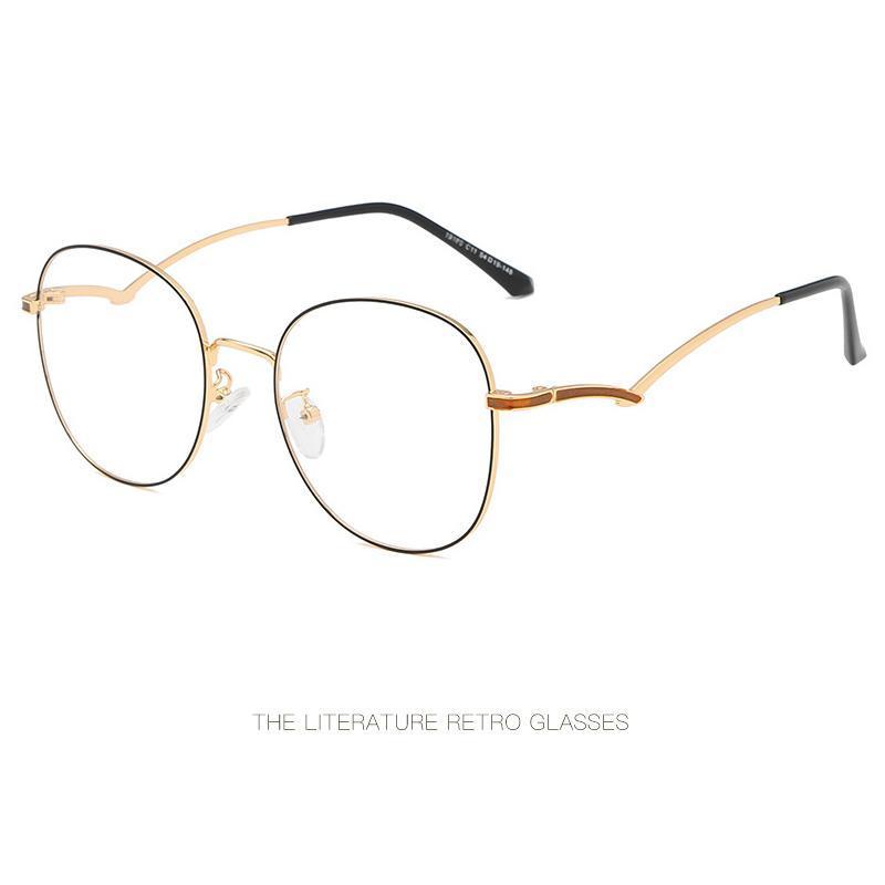 يمكن أن تكون مجهزة الإطار الكامل جميلة المعادن الموضة مرآة مستوية الاتجاه شخصية المرآة مزاجه مع نظارات قصر النظر.