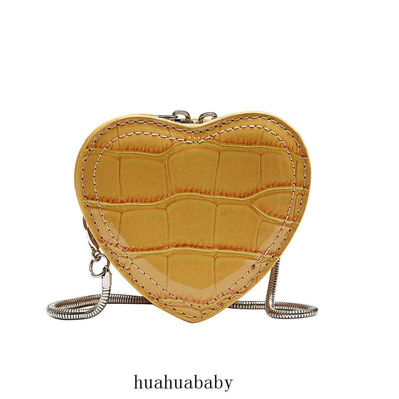 الكلاسيكية قلوب نمذجة سلسلة حقيبة النقي الحجم موضة لون الصغيرة تغيير حقيبة السيدات أكياس التسوق CROSSBODY المحمولة