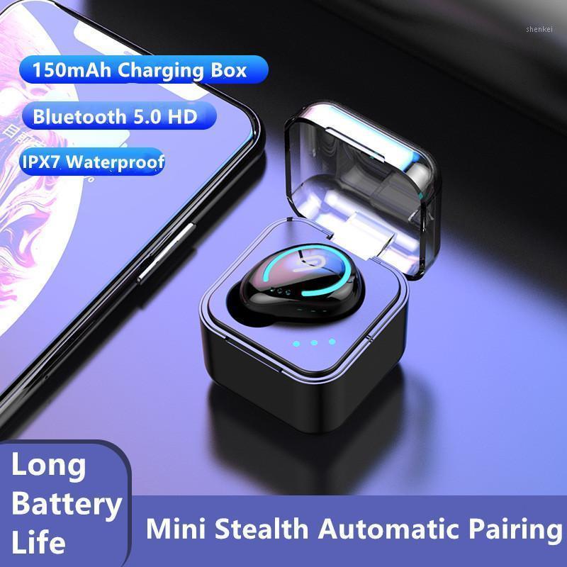 Беспроводные наушники TWS Bluetooth 5.0 9D Стерео беспроводные наушники Спортивные водонепроницаемые гарнитуры Mini Earbuds Box1