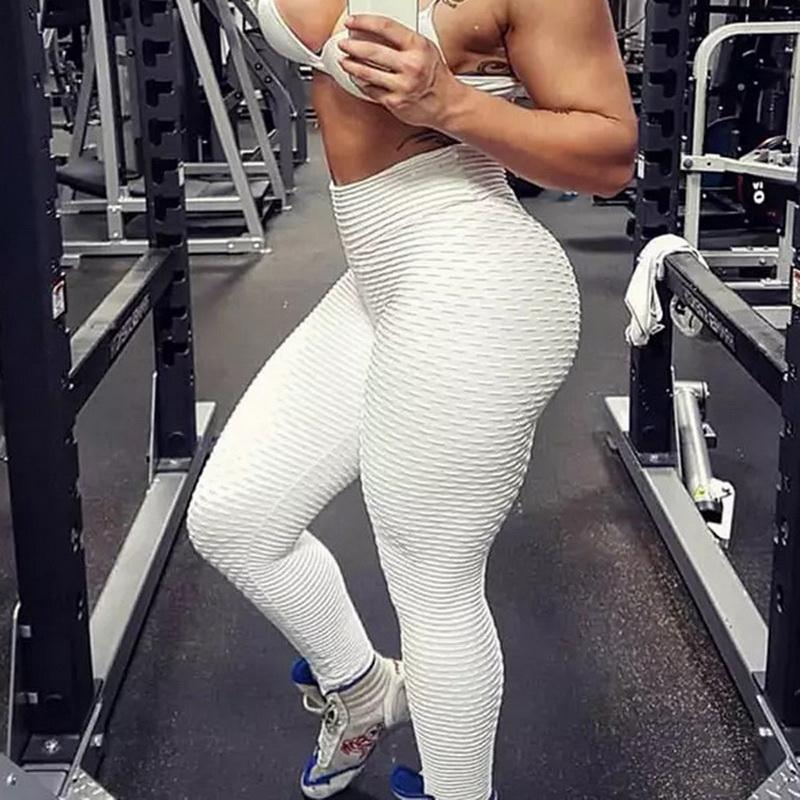 Sexy Mulheres Esporte Leggings cintura alta calças Yoga Workout leggins aptidão mujer Push Up Fitness Gym Roupa macia Correndo Calças