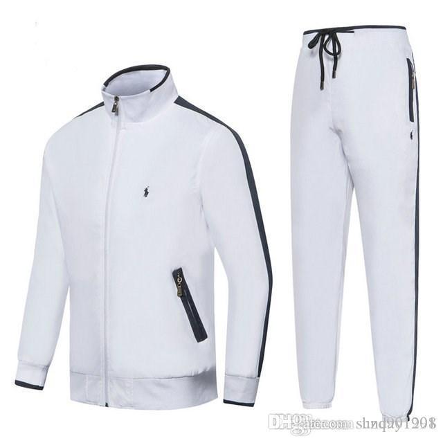 Moda Casual Mens Treino Outono Inverno retalhos Homens Set grossas Casacos + Pants 2 Pieces Define Suits quentes Homens sweatsuit