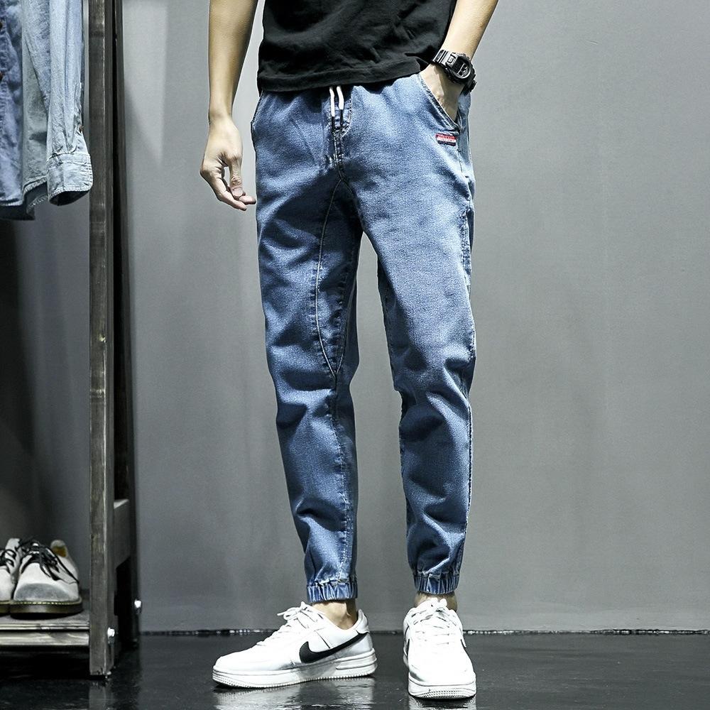 n5AII Jeans pantaloni e pantaloni pantaloni 2020 di uomini in stile coreano di autunno della molla KP lunghi e sciolti caviglia-legato uomini harem pantaloni alla caviglia giovani kpl5