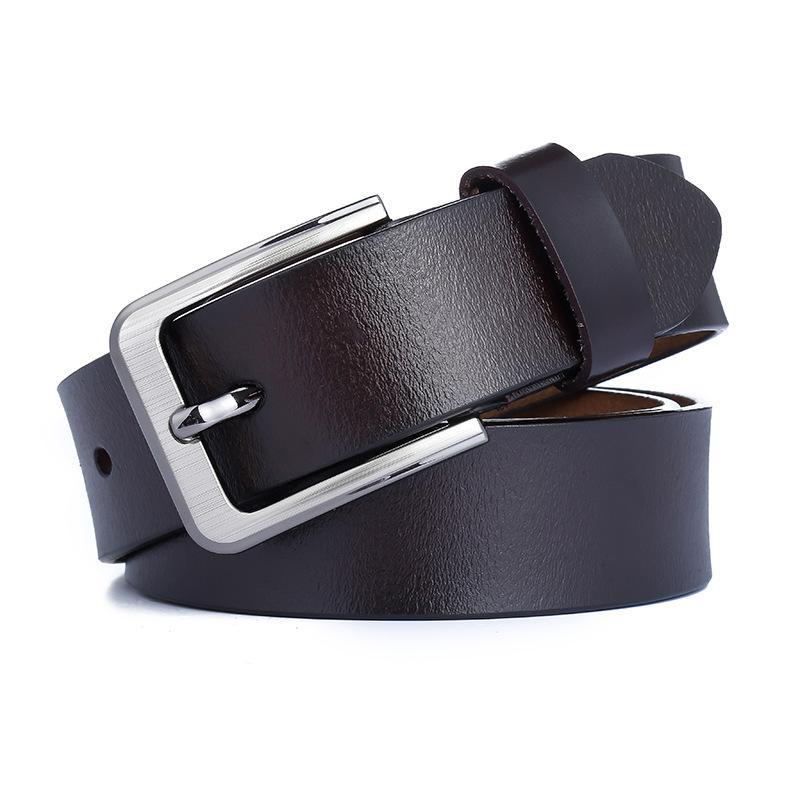 Cuir pour homme Boucle de boucle à boucle de la couche unique Cuir de vachette Cuir de la ceinture de mode décontractée