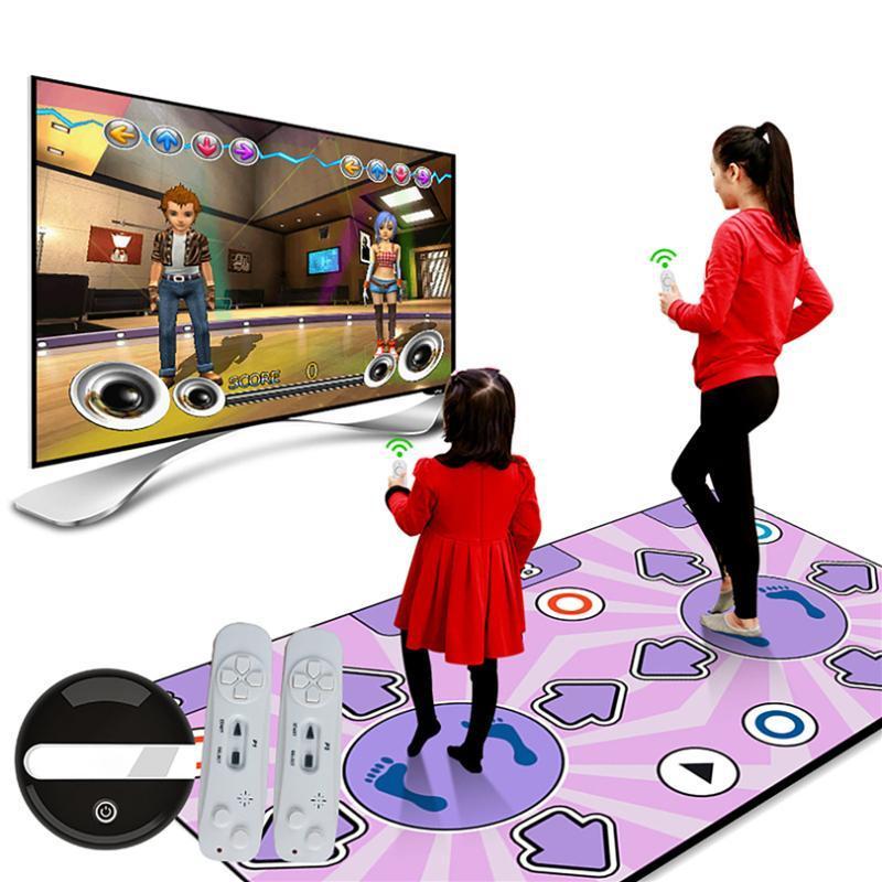 Double User Dance Mats غير الانزلاق تلعب موسيقى حصيرة راقصة خطوة الوسادات مع تحكم عن بعد شعور لعبة السجاد الإنجليزية ل pc tv J60