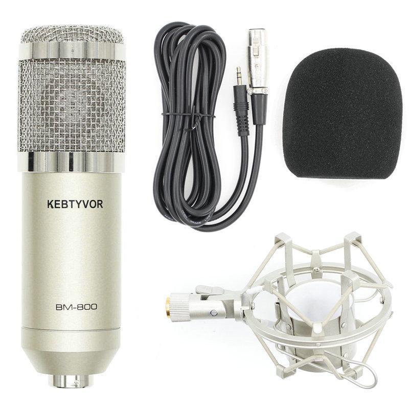 Microfoni BM 800 BM800 Microfono di registrazione condensatore per laptop Mac o Windows Cardioid Studio Vocals Vocals Voice Over, YouTube