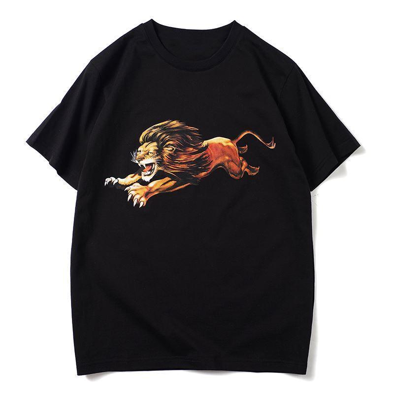 Herren Stylist T-shirts Lion Print Mode Männer Sommer Kurze Ärmeln Hohe Qualität Männer Frauen T-shirt Größe S-2XL