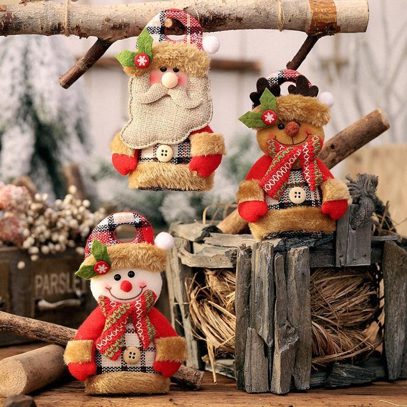 Süsler Noel Baba Kardan Adam Elk Kafes Karikatür Doll Noel Süsleri Home For 28oN # Asma Sıcak Satış Yaratıcı Noel