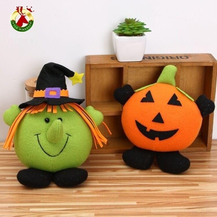 6jqNB decorazione di Halloween ciondolo fantasma bar Festival dei cartoni animati Toy zucca centro commerciale Strega Zucca piccola appesa pumpkinPendant per bambini