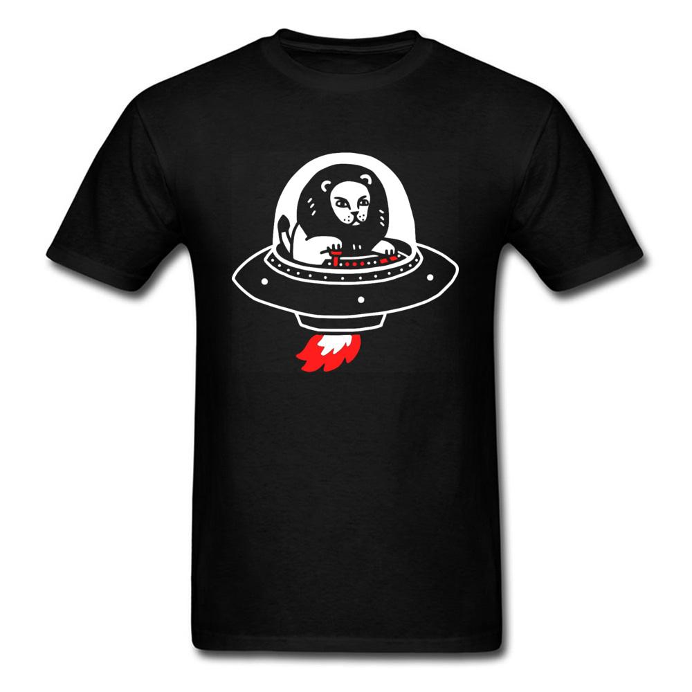 Alien Spaceship Tshirt UFO Leone Europa oversize Estate Autunno Tops Anime Swea O Collo T Sport Felpa con cappuccio degli uomini della maglietta