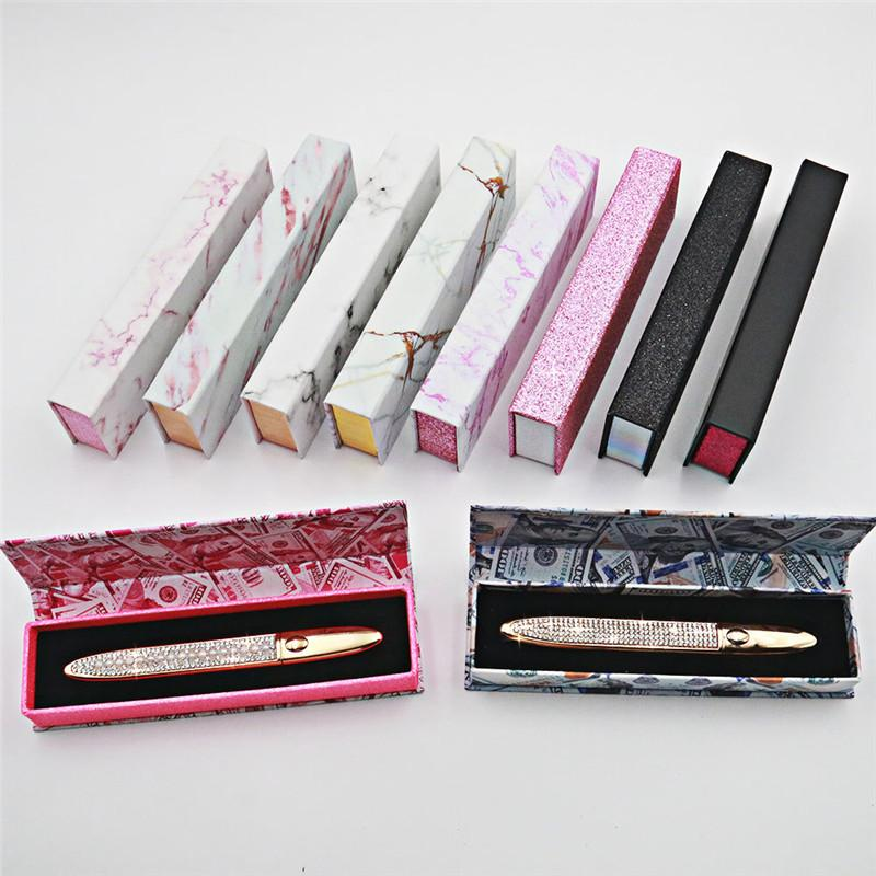 30set Self Adhesive Eyeliner for False Eyelashes No Need Glue to Wear Lashes Liquid Eyeliner with Box DHL free