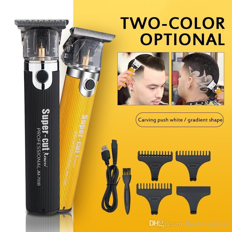 2020 Profesjonalny Elektryczny 0 MM T-Outliner Włosy Trymer Golarka Razor Dla Mężczyzn Hair Clipper Machine Akumulator Fryzjer Fryzura