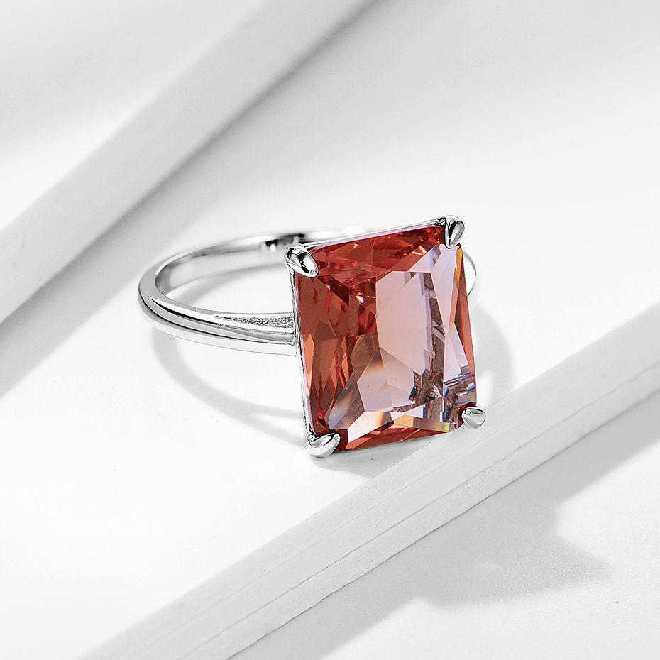 Diaspore Sultanite Gemstone Anneaux pour femmes Real 925 Sterling Sterling Silver Cutting Engagement Promesse Bijoux fins