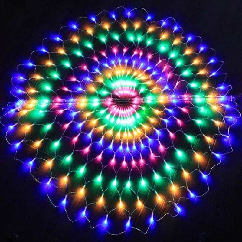 3m 412 LED Peacock Led Light String String Christmas Wedding Party Decorations Tenda Sfondo Fata Luce di rame LED 220V / 110V