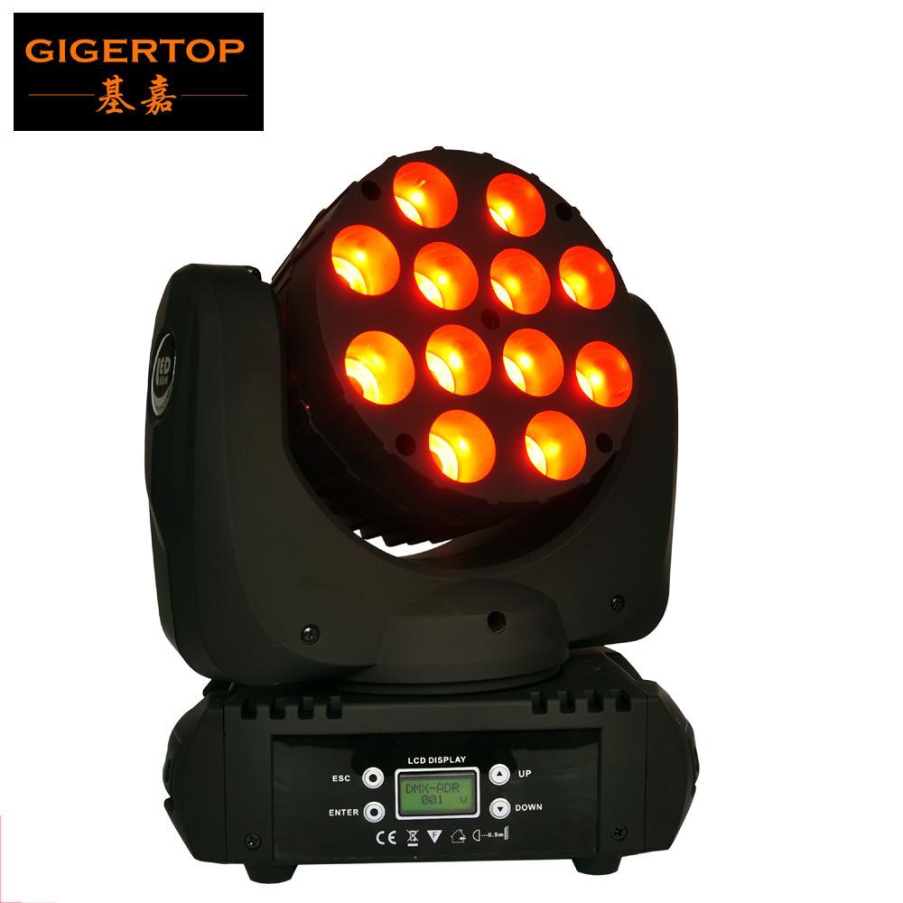 Precio barato Cabeza etapa, mini móvil del punto, 12x12W LED móvil de la viga de luz LED China Etapa de iluminación LED