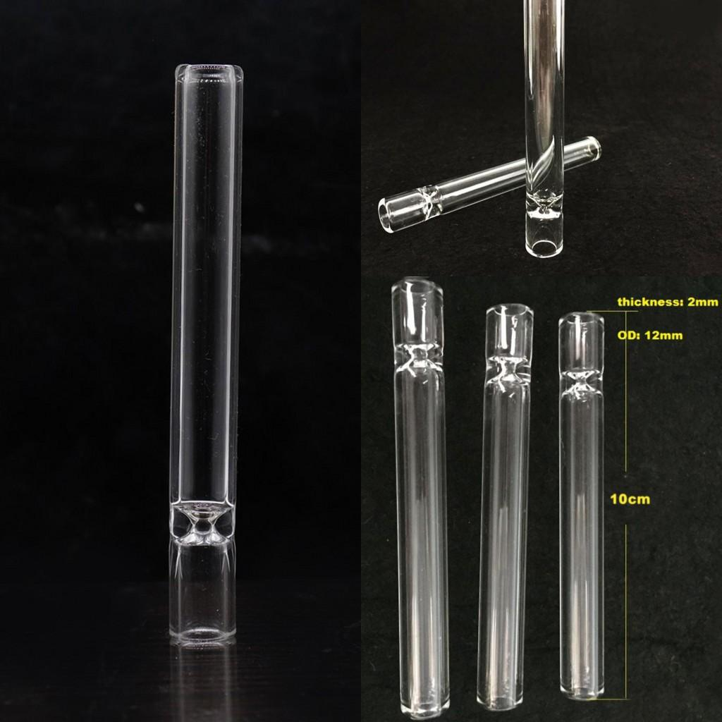 4inch Cheapest Glass cigarette bat One Hitter Pipe Clear Glass tube for smoking tobacco hand pipes Hookah accessories FY2079