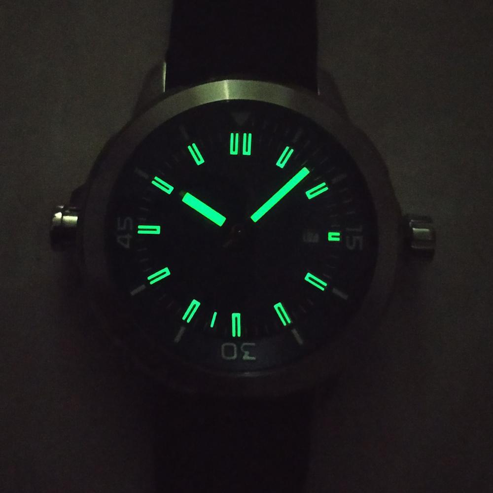 Corgeut45mm каучуковый ремешок Мужские автоматические механические часы Часы Дата Водонепроницаемый Световой HighQuality MIYOTA движение