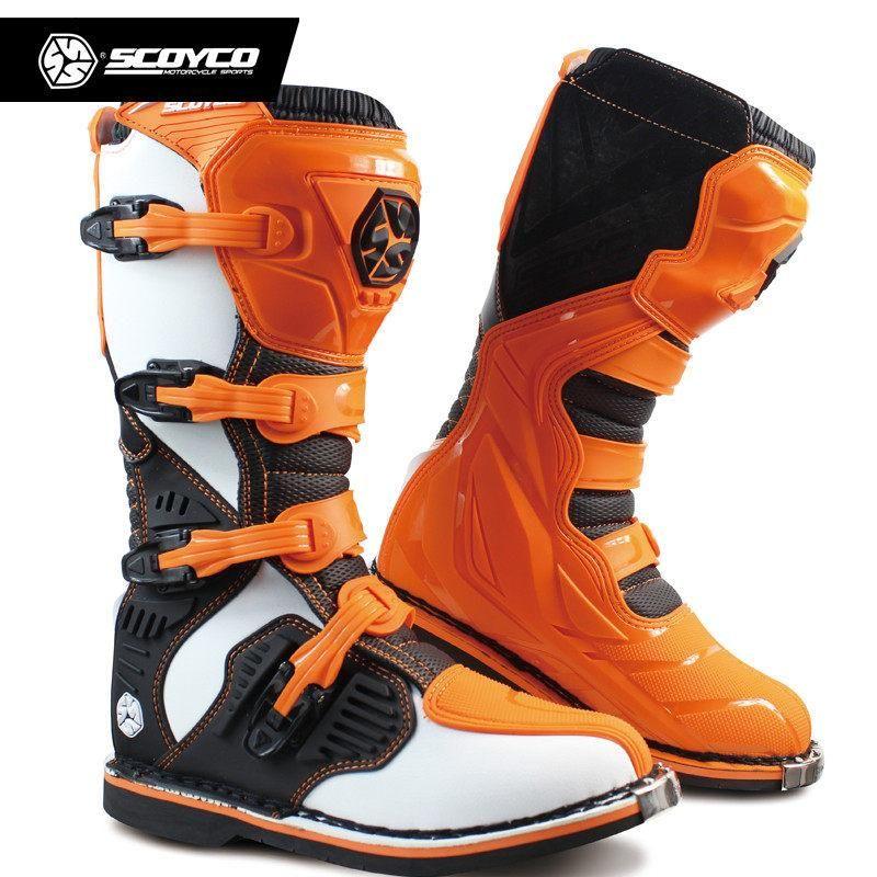 SCOYCO MBM001 Motos Botas Cor Off-road corrida pesadas botas de proteção engrenagem Motocross Motorbike equitação longa Knee High Shoes