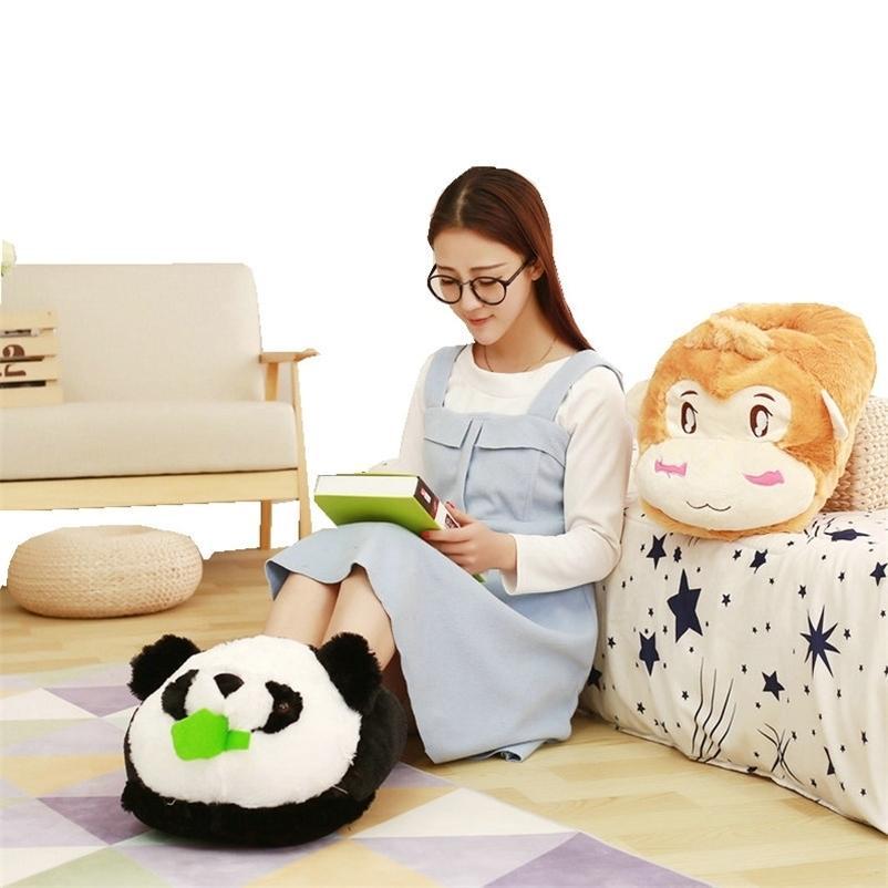 Pelúcia dos desenhos animados Animal Computador Tênis Brinquedo Inverno Manter Quente Prefeitura Panda Panda Brinquedos Presente Para Meninas Amante Amante 201222