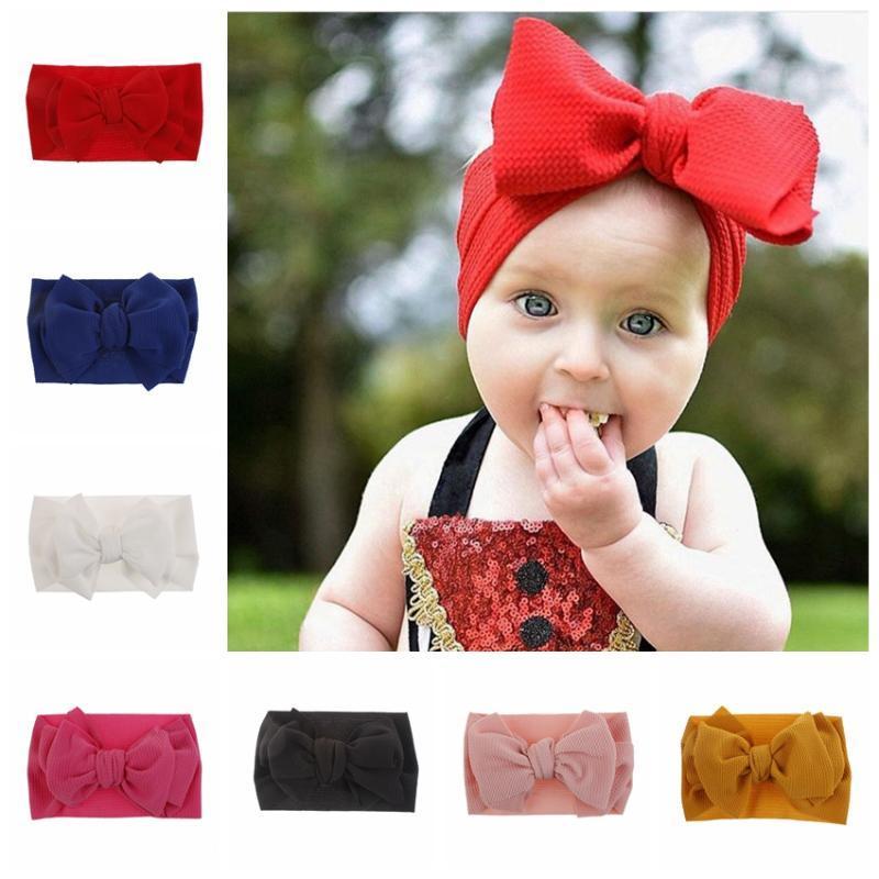 Presentes Acessórios Faixa de Cabelo New 1PCS Tecido Bow Knot bebê recém-nascido Elastic criança crianças headwraps DIY Cabelo aniversário