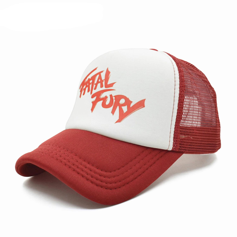 Terry Bogard Mesh Cappellini The King of Fighters FURY F cappello di Cosplay visiera Hat Cap Estate Mesh Cappellini UnisexX1016