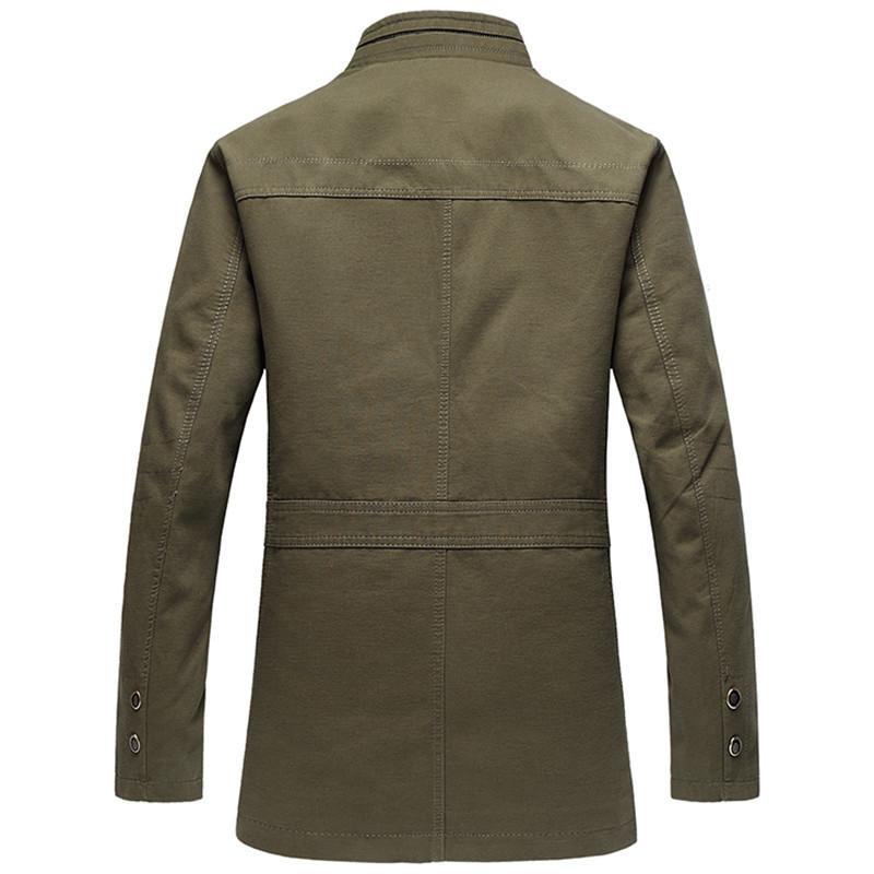 2021 New Men 100% Cotton Blazer Coat Full Size Xl-5xl Classic Blazers Thicken Warm Men's Jacket 5A3S