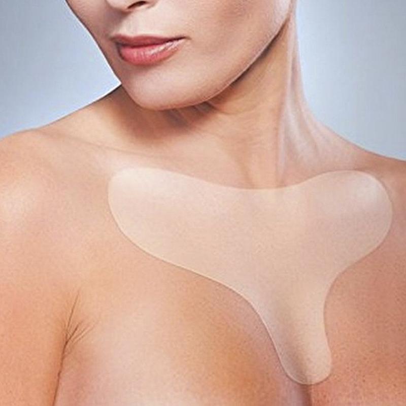 Многоразовый анти морщин грудной площадкой силиконовый прозрачный удаление патч лица уход за кожей грудь поднятие грудной косички плоть