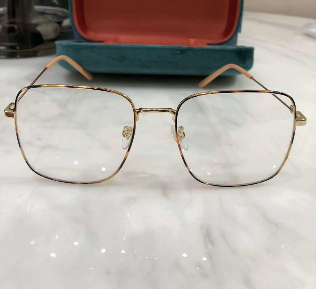 Women Light Havana Gold Eyeglasses 0445 O Full Rim Optical Frame Clear Sunglasses sz47-21-150 Fashion Sunglasses Frames Eyewear with Box