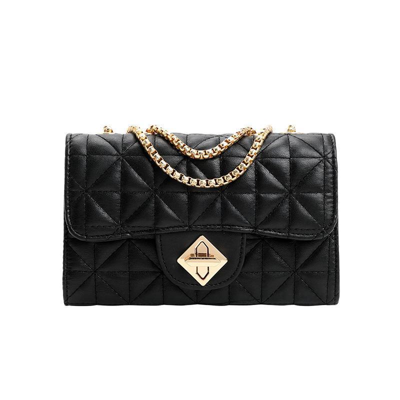 PU цепь сумка лоскутный конверт женские посланник алмазные путешествия плечевые решетки мода слинг черная сумка повседневная oobht