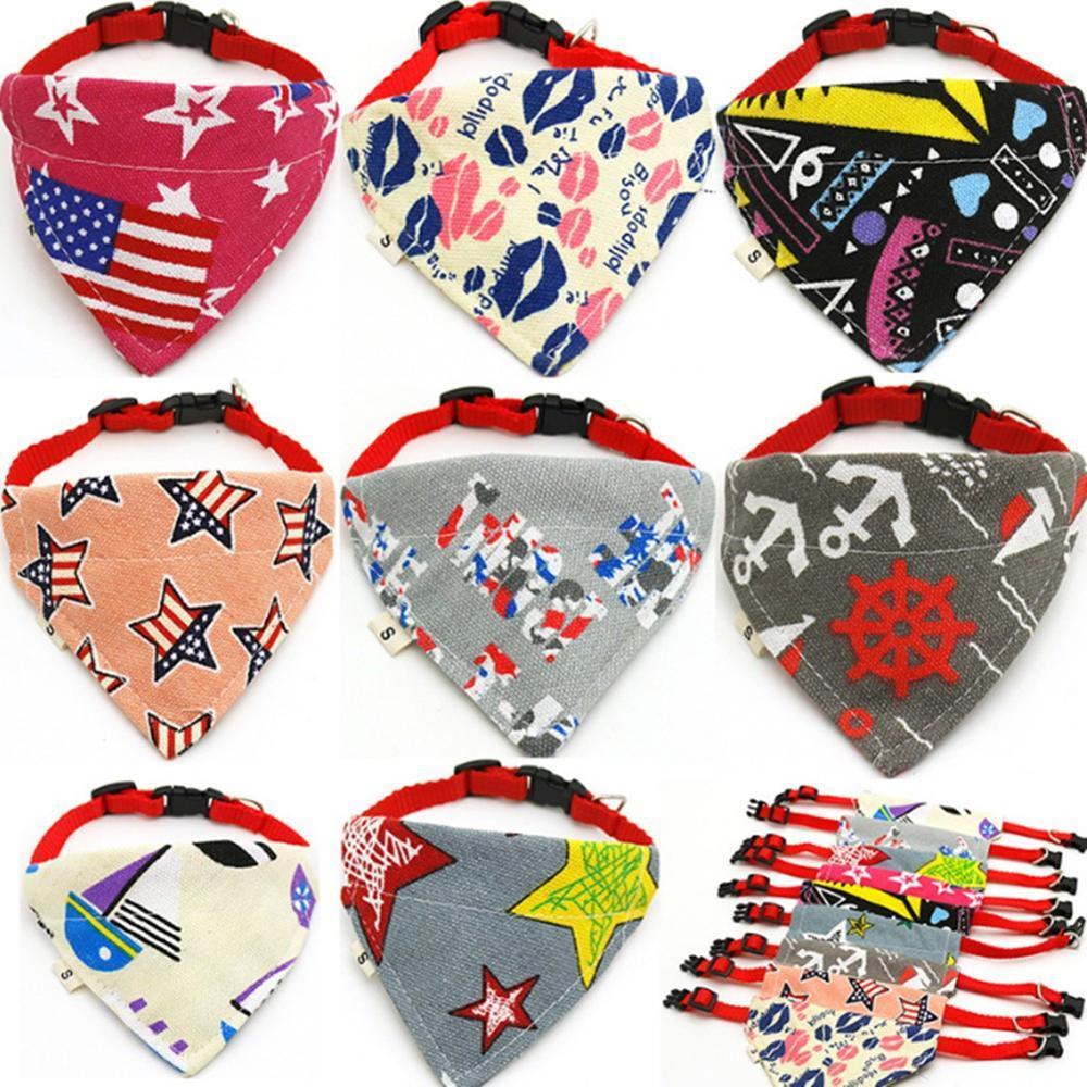 Chat credchief chien cravate colliers Belle toile pour animaux de compagnie écharpe collier ajustable chiot triangle bandana bandes