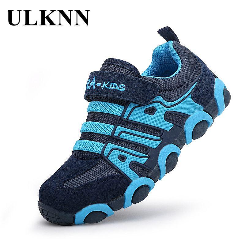 Student ULKNN Kids Genuine Girls Leather Trainers Boys For Running School Children Shoes Sneakers kinderschoenen