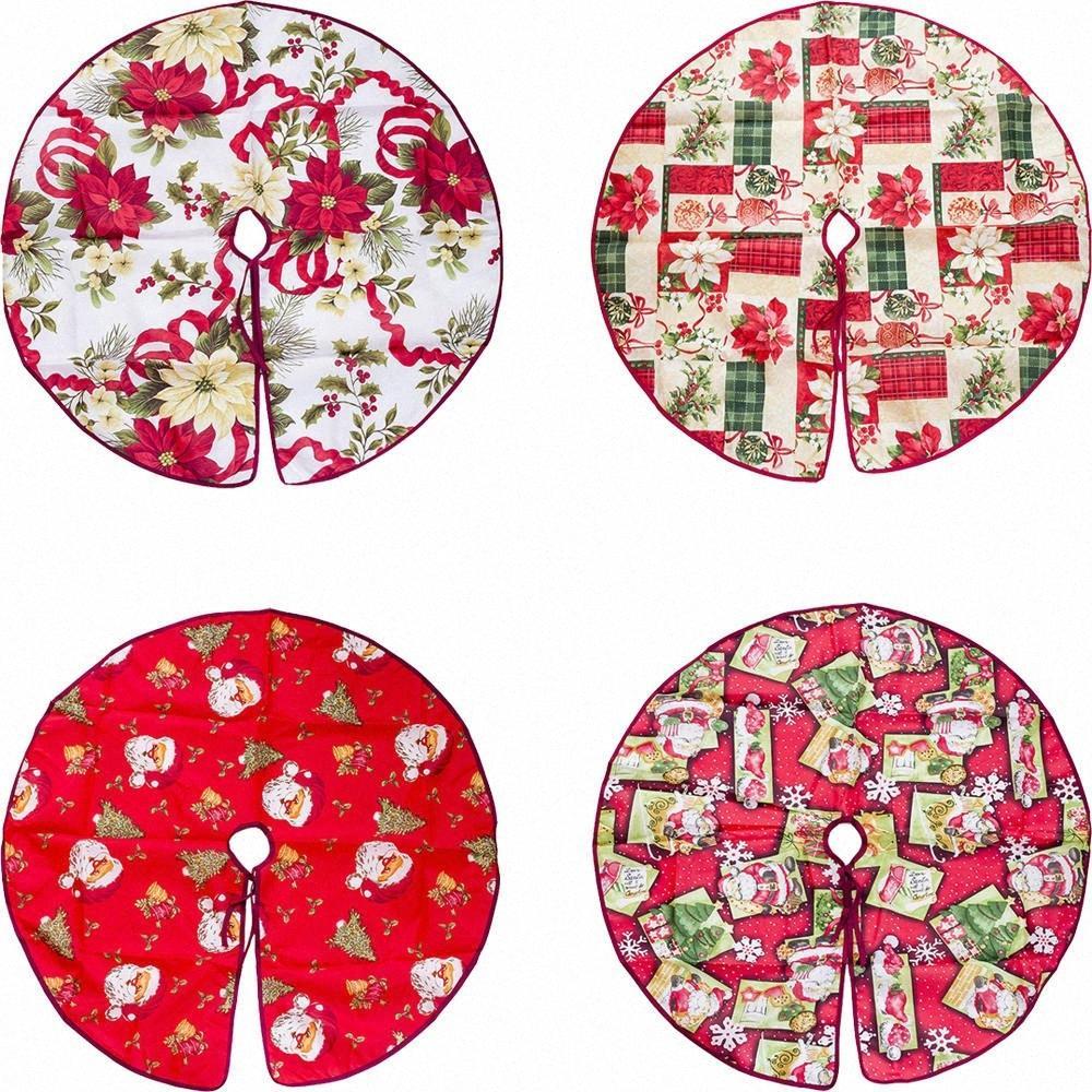 Украшение базы дерева юбка Рождество Стенд партии Поставки держатель украшения Санта-Клаус Head / Санта Клаус / Рождество Цветы / Шары rLYW #