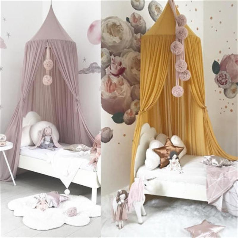 Princess Baby Mosquito Net Bed Kids Canopy Bedcover Curtain Bedding Decor Hung Dome Crib Netting 200928