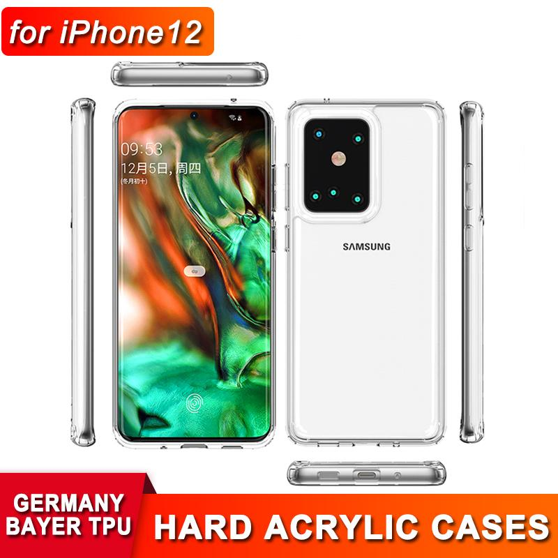아크릴 TPU 1.5mm 2 in iPhone 12 Pro Max 용 투명한 케이스 삼성 주 20 Ultra Plus S20 11 Pro Max Anti-Dropping Back Cover Case