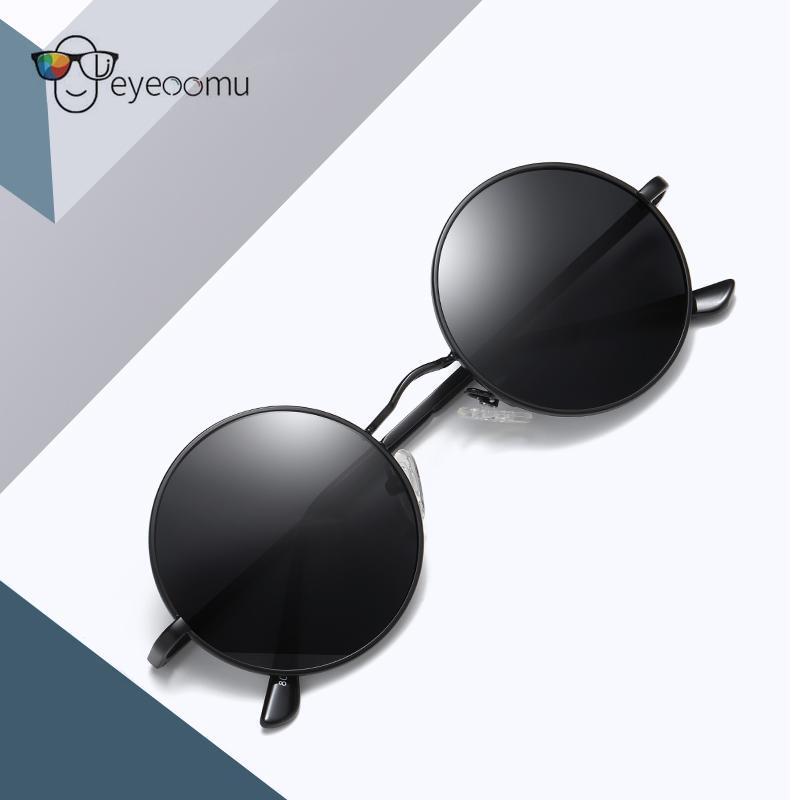 Sunglasses EYEOOMU Vintage Small Round Polarized Women Instagram Street S Retro Glasses With 8 Colors Men Oldschool Dress Up