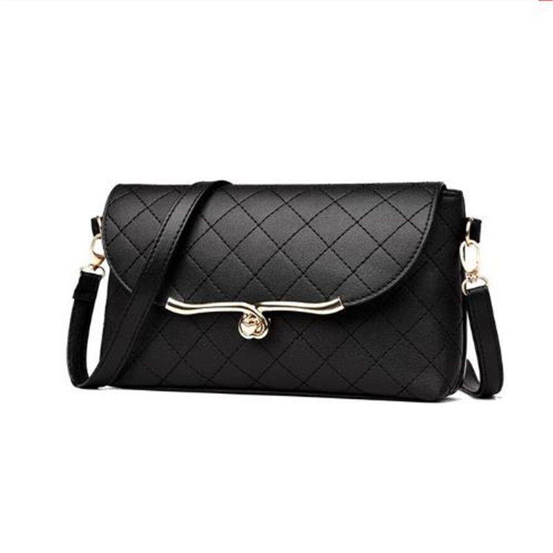 2020 Новый замок Bload Bag Phunge Messenger Crossbody Сумки с алмазной решеткой Женщины Satchle Joker Досуг Черная сумка