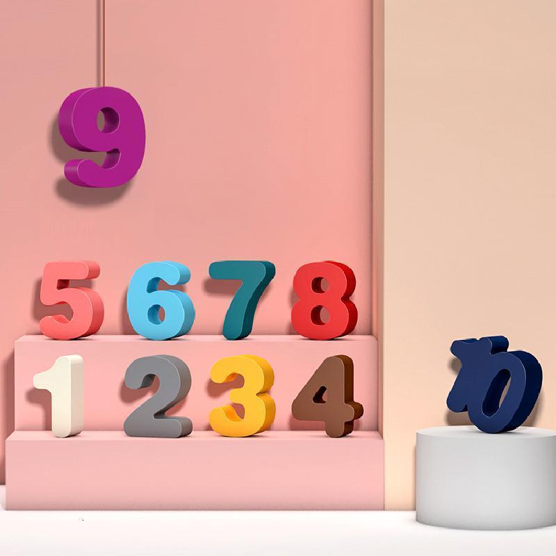 Montessori pré-escolar contagem de matemática forma geométrica figura cognição bloco de construção puzzle desenvolvimento de brinquedo educacional