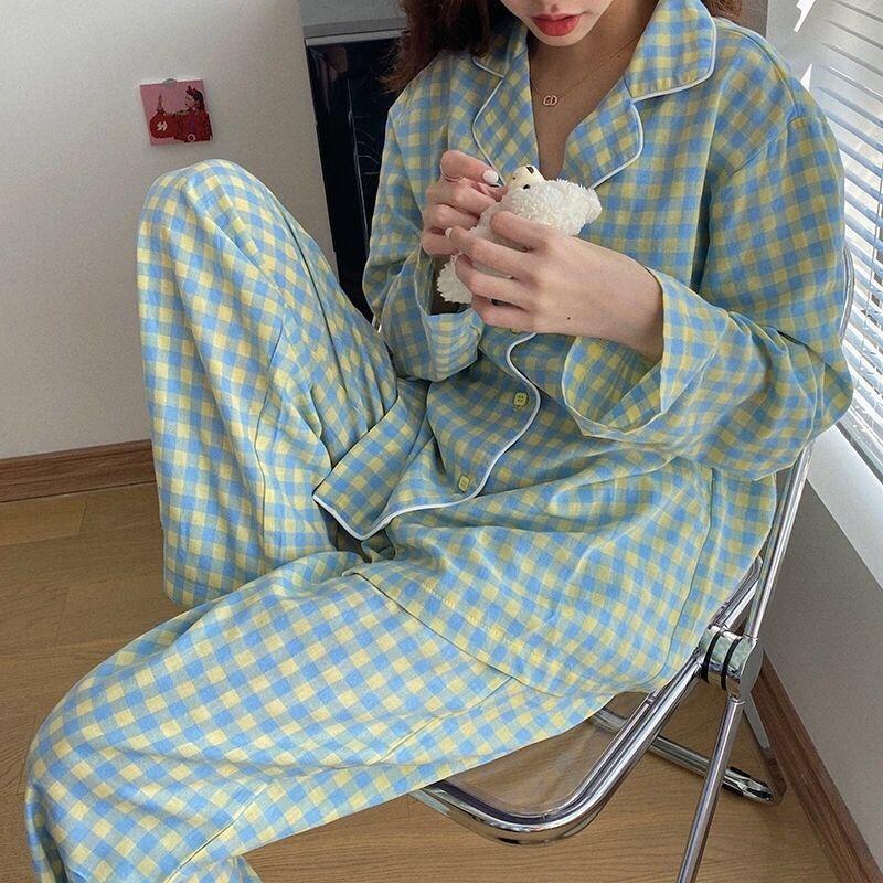Fm4W For Couple Pajama BZEL Home Satin Pijamas Long Sleeve Flower Printed Sleepwear His-and-her Silk Suit Pyjama Set Lover Man Woman Lovers