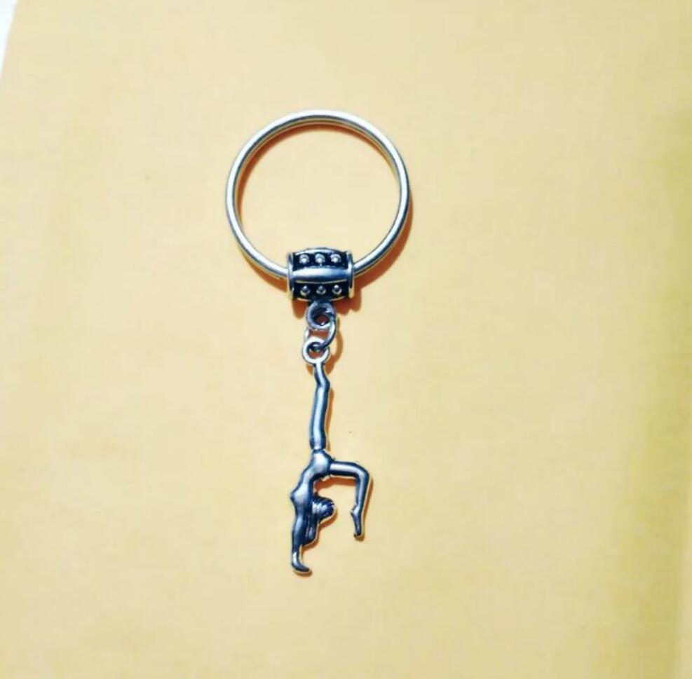 NEW HOT Fashion jewelry Female gymnast Keychain - charm pendant key chain ring DIY Fit Keychain - 211
