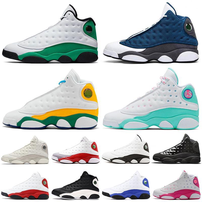 JUMPMAN 2021 New Quality Flint 13 13s Soar Green Melo Class Mens Basketball Shoes Reverse Lucky Green Women Trainers Sport Sneakers 36-47