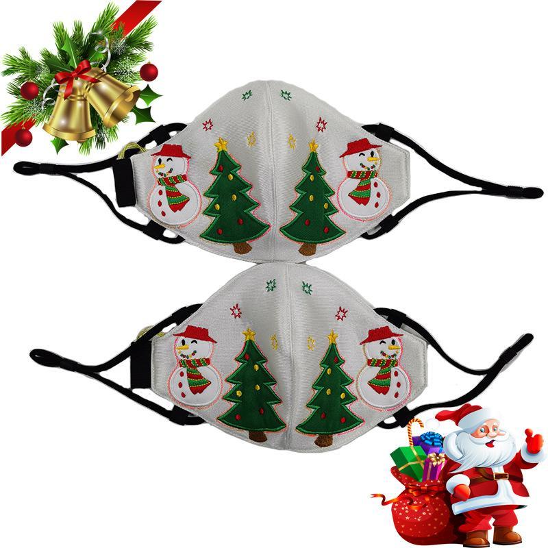 Máscara de la cara de la cara LED Máscara de diseñador Adulto Navidad LED Purgar Máscaras Hombres Mujeres Árbol de Navidad Muñeco de nieve Color Cambiable Facenas Facenas