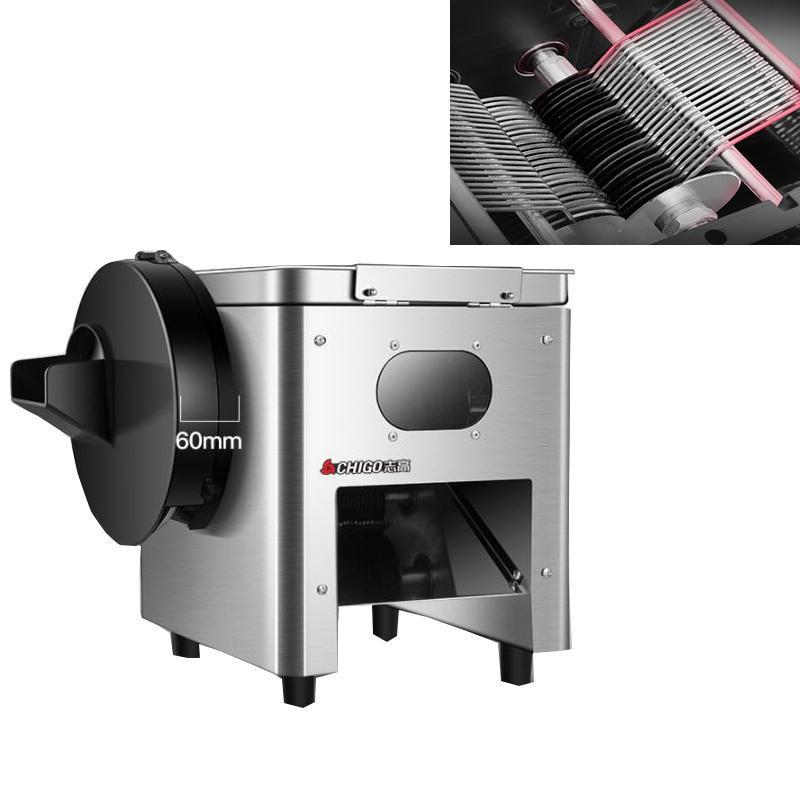 High-efficiency commercial meat slicer stainless steel shredder slicer vegetable multi-function electric VS manual meat s