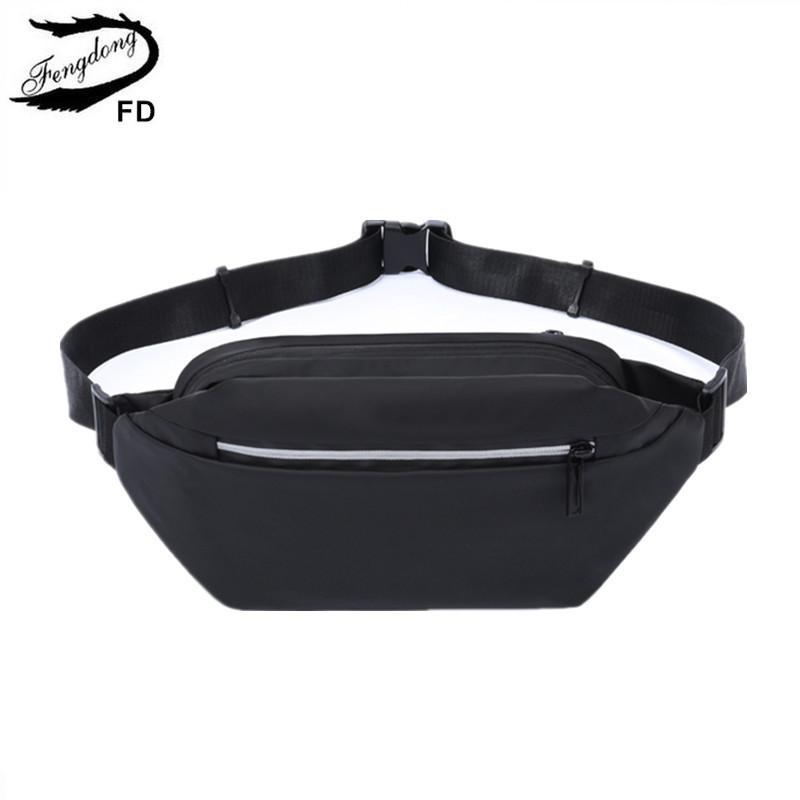 Fengdong petit sport sac de taille pour les hommes mini-sac imperméable poitrine fronde sac de taille sac téléphone Voyage anti vol de LJ200930 de bande réfléchissante