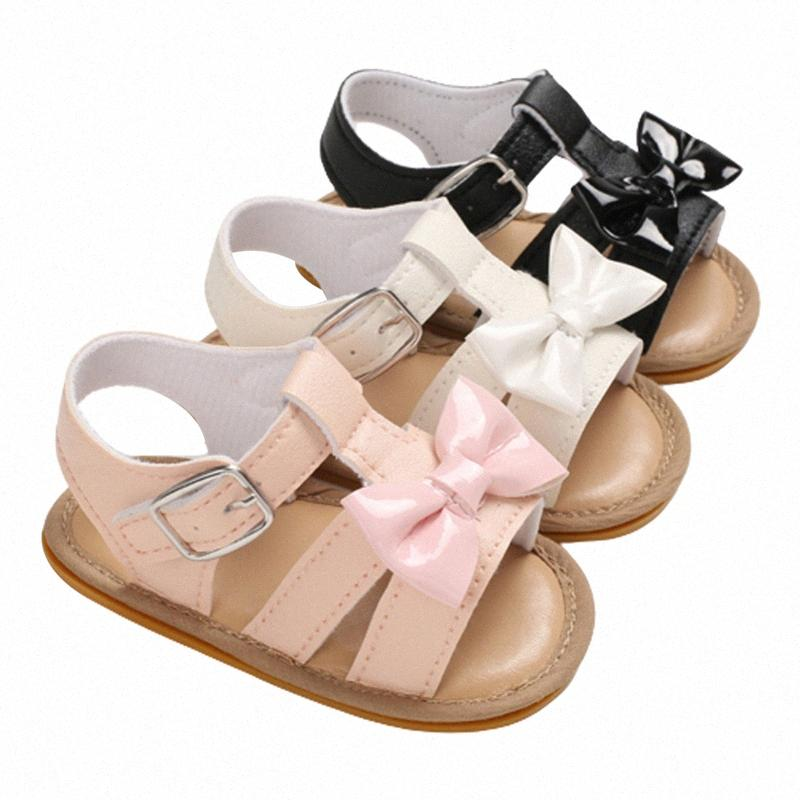 2020 Fashion Trend Summer Baby Kids Girls Shoes Non Slip Cute Bowknot Toddlers Newborn Sandals Footwear Outdoor Casual Shoes Little Gi 3wrX#