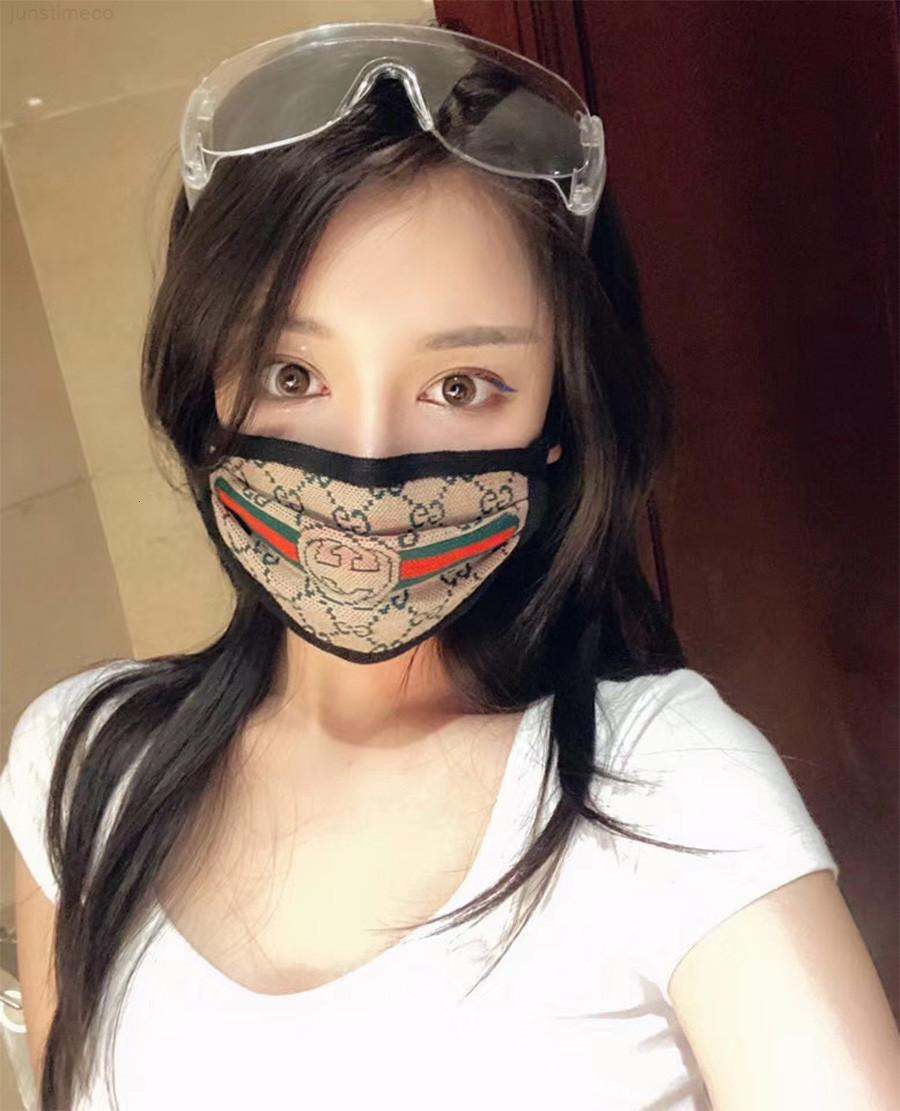 Designer luxo máscara rosto letra impressão respirável rosto moda máscaras unisex reusável lavável ciclismo máscara de desenhador ao ar livre para won1