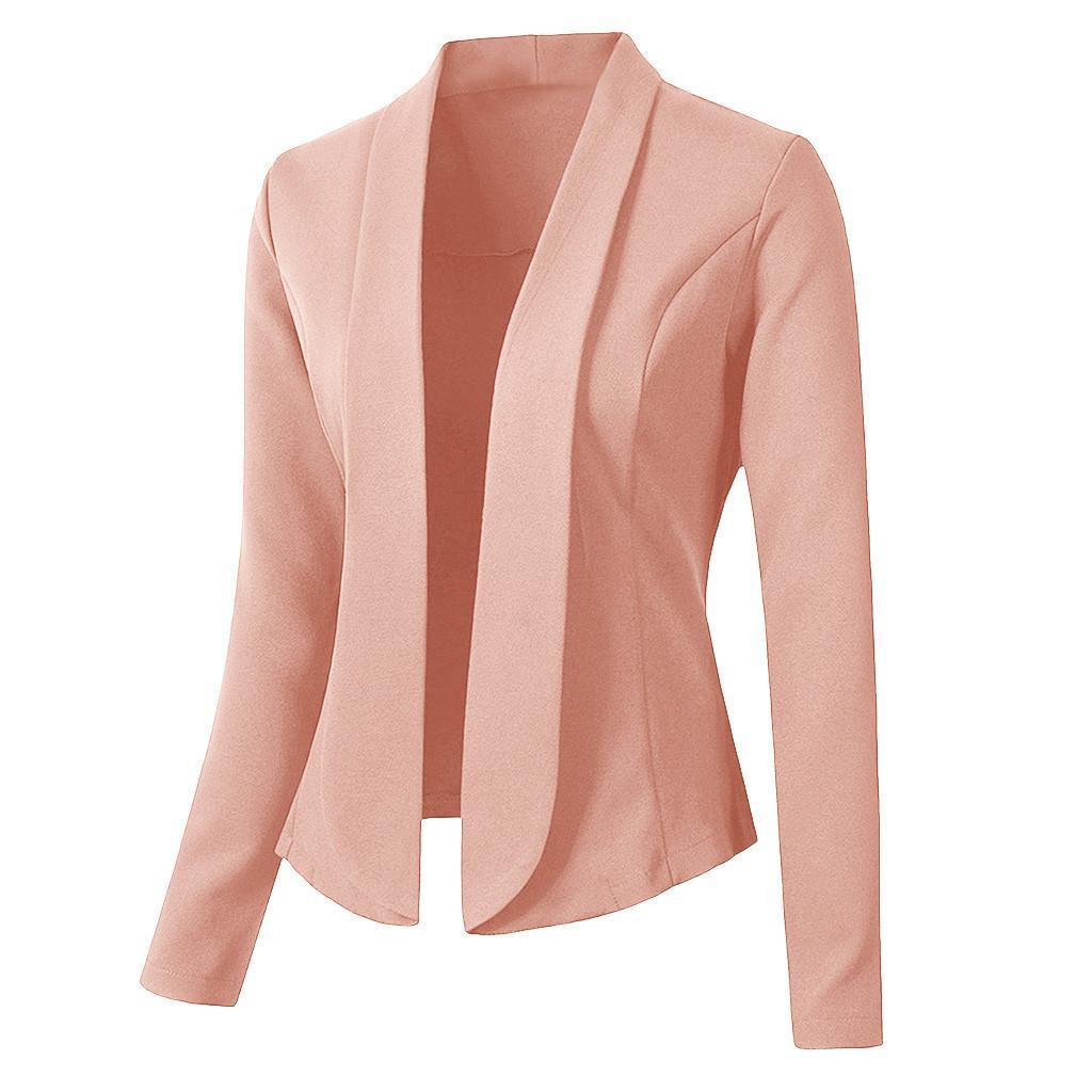Moda sonbahar kadın blazer uzun kollu ofis giymek hırka ceket kadın blazers ve ceketler chaqueta mujer blazer feminino x1214
