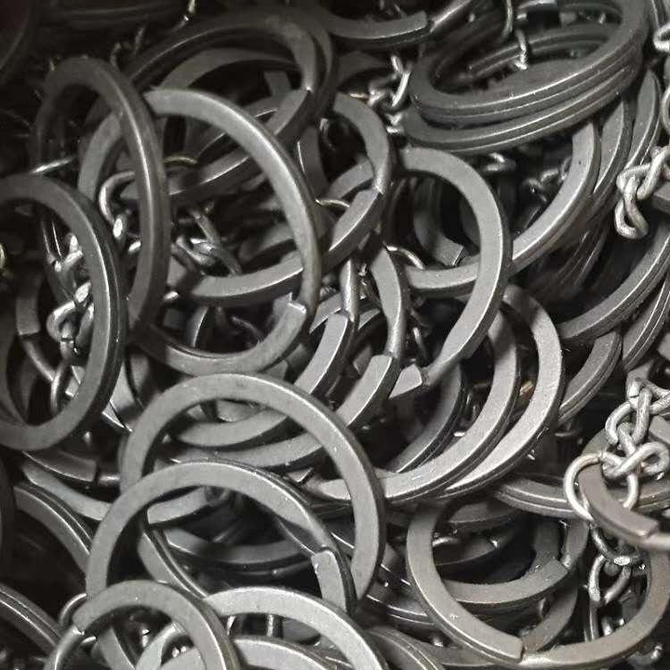 Níquel chapado 304 Anillo de acero inoxidable Accesorios clave de alta calidad Cadena de cinturón de apertura de metal